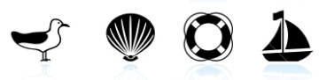 stock-illustration-13052755-summer-by-the-beach-black-and-white-icon-set